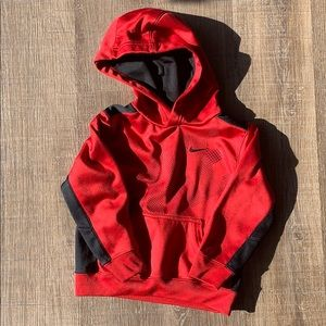 Boys Nike therms-fit 3t red hoodie